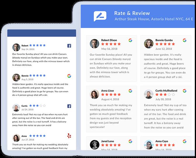1 Google & Facebook Reviews Widget For Your Website